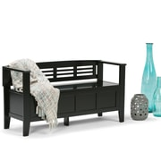 Simpli Home Adams Entryway Bench in Black (3AXCADABEN-B)