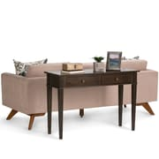 Simpli Home Carlton Console Sofa Table in Tobacco Brown (3AXCCRL-02)