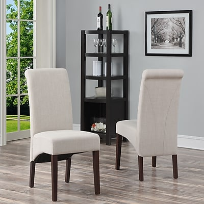 Simpli Home Avalon Linen Look Parson Dining Chair in Natural (WS5134-NL)