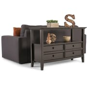 Simpli Home Amherst Console Sofa Table in Dark Brown (AXCAMH-003)