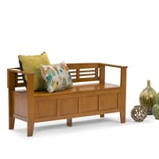 Simpli Home Adams Entryway Bench in Light Avalon Brown (3AXCADABEN-ALB)