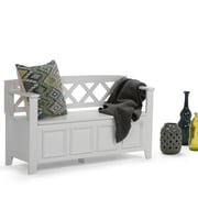 Simpli Home Amherst Entryway Bench in White (AXCAB-BNCH-W)
