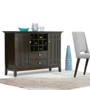 "Simpli Home Bedford 54""W x 17""D x 36""H Sideboard Buffet & Winerack in Tobacco Brown (3AXCBED-04)"