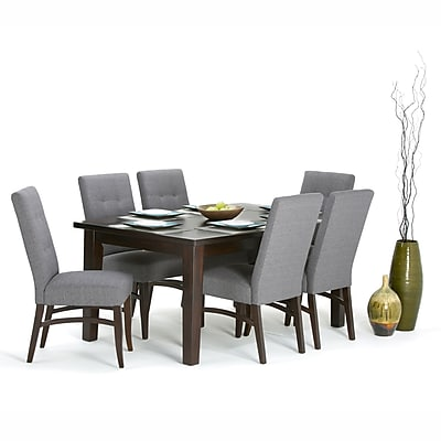 Simpli Home Eastwood Rectangle Dining Table in Java Brown (3AXCDNT-003)