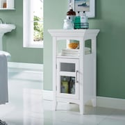 "Simpli Home Avington 30""H Floor Storage Cabinet in White (AXCBC-003-WH)"