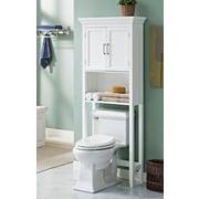 "Simpli Home Avington 67""H Space Saver Cabinet in White (AXCBC-007-WH)"