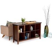 "Simpli Home Artisan 33""H 8 Cube Storage Sofa Table in Medium Auburn Brown (AXCHOL016)"