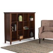 "Simpli Home Artisan 48""H 12 Cube Storage in Medium Auburn Brown (AXCHOL017)"