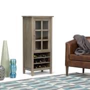 "Simpli Home Warm Shaker 22.5""W x 50""H Storage Wine Rack in Distressed Grey (AXWSH008-GR)"