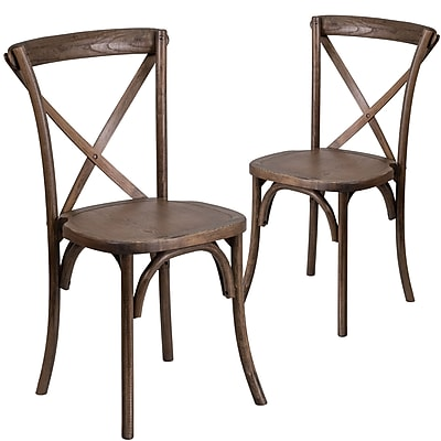 Flash Furniture Early American Cross Back Accent Chair Set of 2 (2XUXEA)