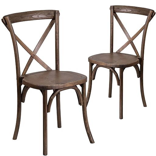 Fine Flash Furniture Early American Cross Back Accent Chair Set Of 2 2Xuxea Andrewgaddart Wooden Chair Designs For Living Room Andrewgaddartcom