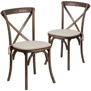 Flash Furniture Early American Cross Back Accent Chair Set of 2 (2XUXEANTC)