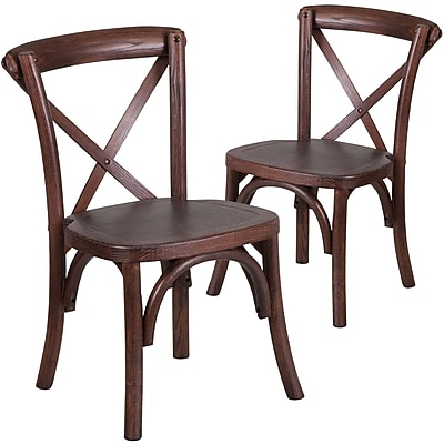 Flash Furniture Kid Mahogany Cross Accent Chair Set of 2 (2XUXMAHKID)
