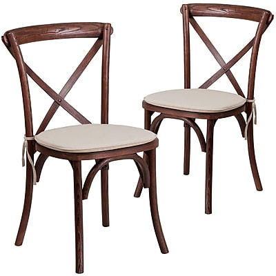 Flash Furniture Mahogany Cross Back Accent Chair Set of 2 (2XUXMAHNTC)
