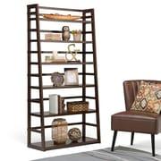"Simpli Home Acadian 72""H Ladder Shelf Bookcase in Tobacco Brown (AXSS008KDW)"