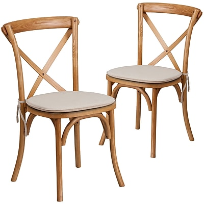 Flash Furniture Oak Cross Back Accent Chair Set of 2 (2XUXOAKNTC)