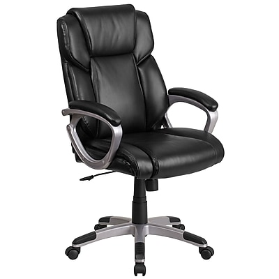 Flash Furniture Faux Leather Mid-Back Executive Office Chair Black (GO2236MBK)