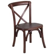 Flash Furniture Kid Mahogany Cross Accent Chair (XUXMAHKID)