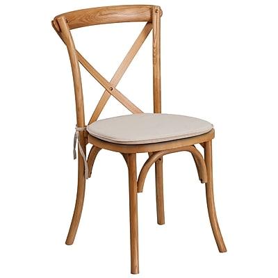 Flash Furniture Oak Cross Back Accent Chair (XUXOAKNTC)