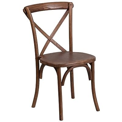 Flash FurniturePecan Cross Back Accent Chair (XUXPEC)