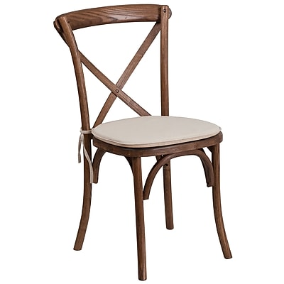 Flash Furniture Pecan Cross Back Accent Chair (XUXPECNTC)