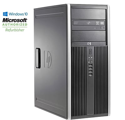 Refurbished HP Elite 8000 Tower Core 2 Duo E8400 3.0GHz 8GB 128GB Solid State Drive DVDRW Windows 10 Pro