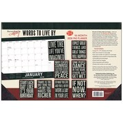 "2018 Sellers Publishing, Inc. 17"" x 11"" Words To Live By Desk Pad Planner Calendar (CD0292)"
