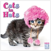 "2018 Sellers Publishing, Inc. 12"" x 12"" Cats In Hats Wall Calendar (CA0116)"