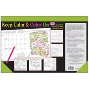 "2018 Sellers Publishing, Inc. 17"" x 11"" Keep Calm & Color On Desk Pad Planner Calendar (CD0292)"