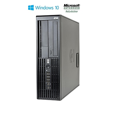 Refurbished HP Z200 Small Form Factor Core I5 650 3.2 GHz 4GB 250GB Hard Drive DVD Windows 10 Pro Mar