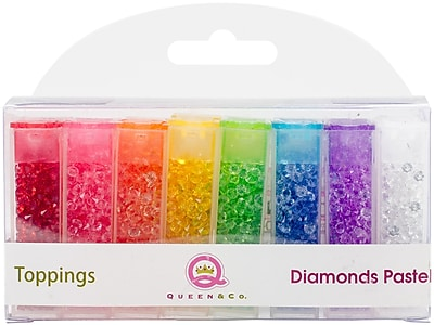 Queen & Co Diamonds Pastel Topping Set, 8/Pkg (TOP1038)