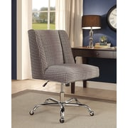 Linon Draper Office Chair, Upholstered, Gray Dot, Chrome Base (178404GDOT01U)