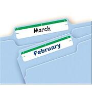 "Avery Laser/Inkjet File Folder Labels, 2/3"" x 3 7/16"", Green, 252/Pack (5203)"