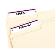 """Avery Easy Peel Laser/Inkjet File Folder Labels, 2/3"""" x 3 7/16"""", Purple, 7/Sheet, 36 Sheets/Pack (5204)"""