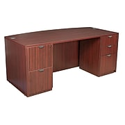 "Legacy 71"" Full Double Pedestal Desk, Mahogany Laminate (LDPF7135MH)"