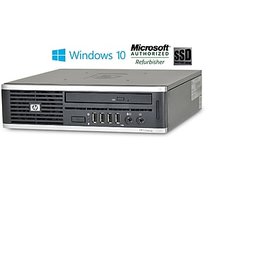 Refurbished HP 8000 Ultra Small Form Factor Intel E8400 Core 2 Duo 3.0 8GB 128GB SSD DVDrw Windows 10 Pro Mar (CNB1-8694)