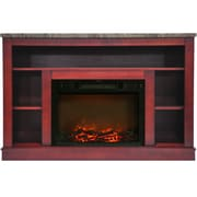 """Cambridge 47"""" Electric Fireplace with a 1500W Log Insert and Cherry Mantel (CAM5021-1CHR)"""