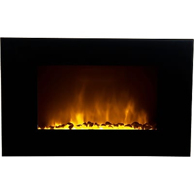 Warm House Oslo Wall-Mounted LED Fireplace with Color-Changing Flame Effect and Remote Control (OWF-10707) 24199339
