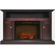 """Cambridge Sorrento Electric Fireplace with 1500W Log Insert and 47"""" Entertainment Stand in Mahogany (CAM5021-2MAH)"""