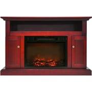 """Cambridge Sorrento Electric Fireplace with 1500W Log Insert and 47"""" Entertainment Stand in Cherry (CAM5021-2CHR)"""