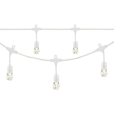 Enbrighten Cafe 35604 Classic LED Café Lights (12ft; 6 Acrylic Bulbs)