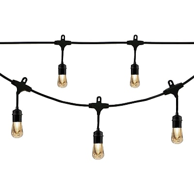 Enbrighten Cafe 35631 Vintage LED Café Lights (48ft; 24 Acrylic Bulbs)