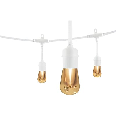 Enbrighten Cafe 35643 Vintage LED Café Lights (12ft; 6 Acrylic Bulbs)