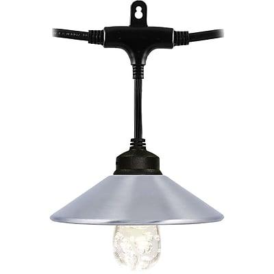 Enbrighten Cafe 35917 Café LED Light Shades, 6 pk (Stainless Steel)