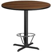 """Flash Furniture Laminate 42"""" RoundTable-X-Base Brown (XURD42WAT33B4F)"""