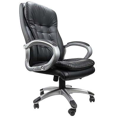 SumacLife Black High Back Bonded Leather Luxury Executive Chair (FURCHR003)