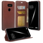 SumacLife Brown Wallet Leather Case With Stand For LG V30 (LGCLEA322)