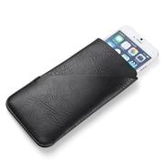 Vangoddy Black Slim Universal Wallet Pouch Holder Fits iPhone Samsung Galaxy S8 LG V30 (CELLEA014)