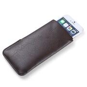 Vangoddy Brown Slim Universal Wallet Pouch Holder Fits iPhone Samsung Galaxy S8 LG V30 (CELLEA016)
