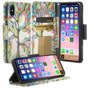 SumacLife Wishing Tree Wallet Leather Case For iPhone X (APLLEA804)